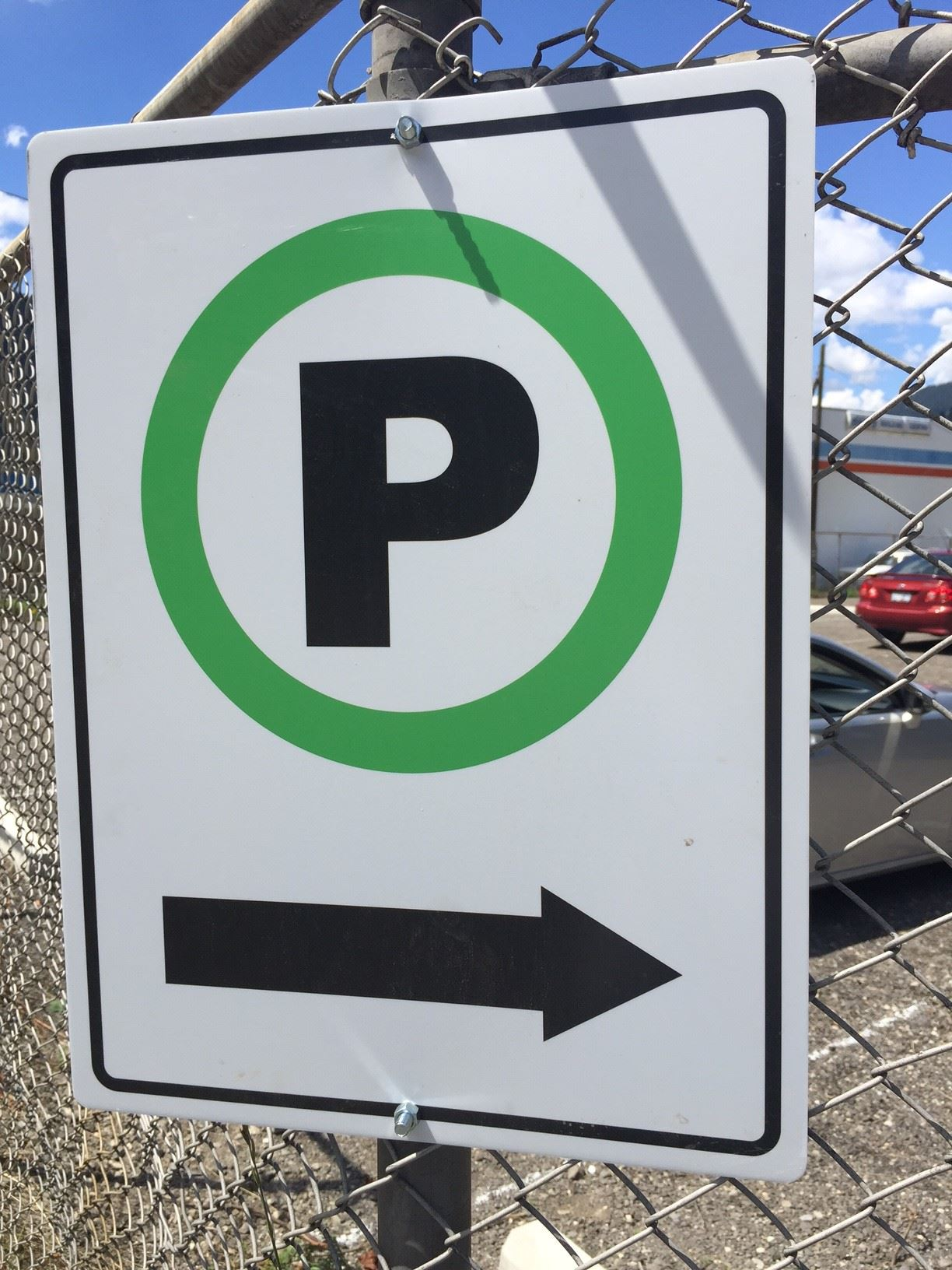 Parking Sign Directional