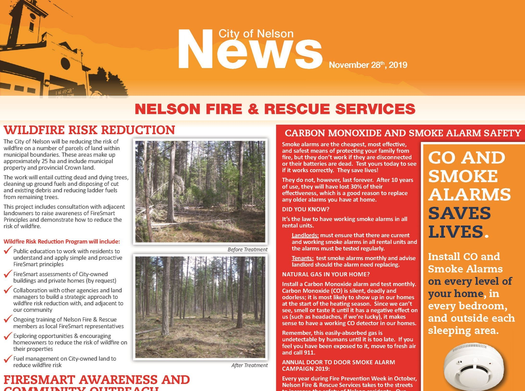 November 2019 Newsletter Fire Rescue Services