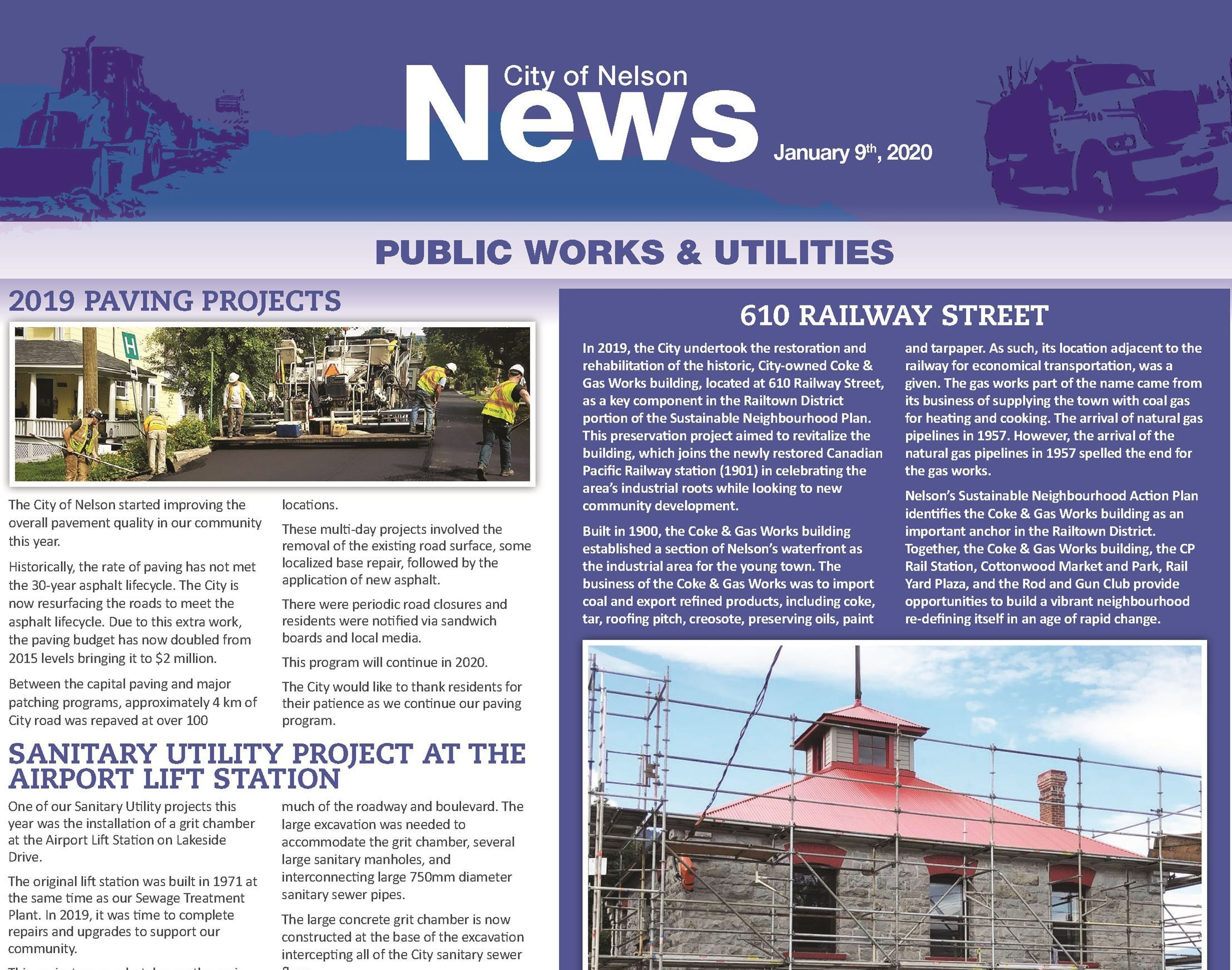 Public Works January 2020 Newsletter