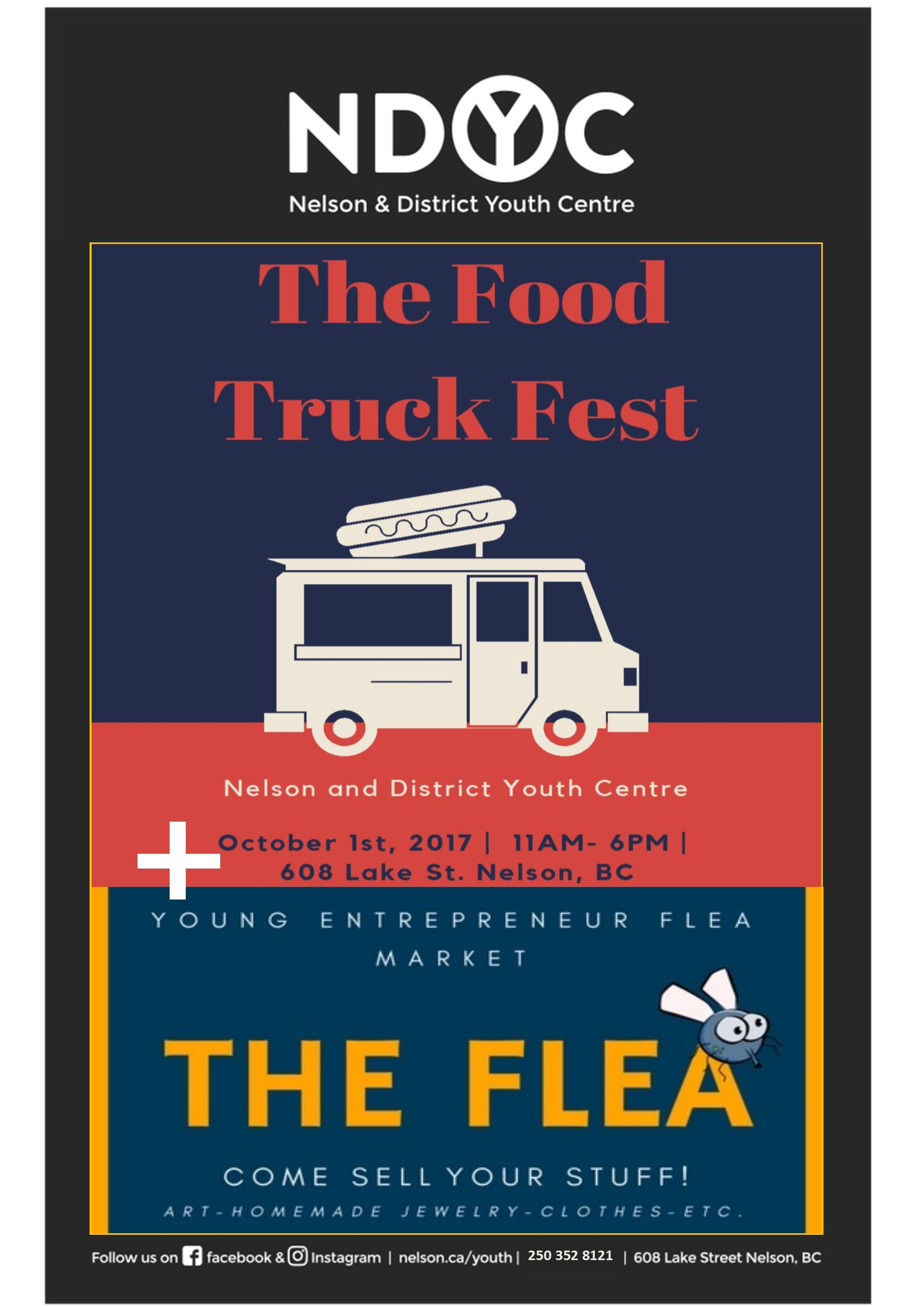 Food Truck and Flea poster 2017