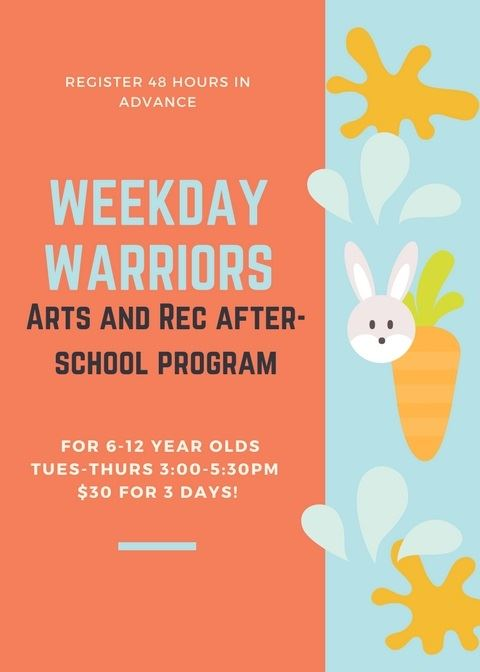 Weekday warriors flyer