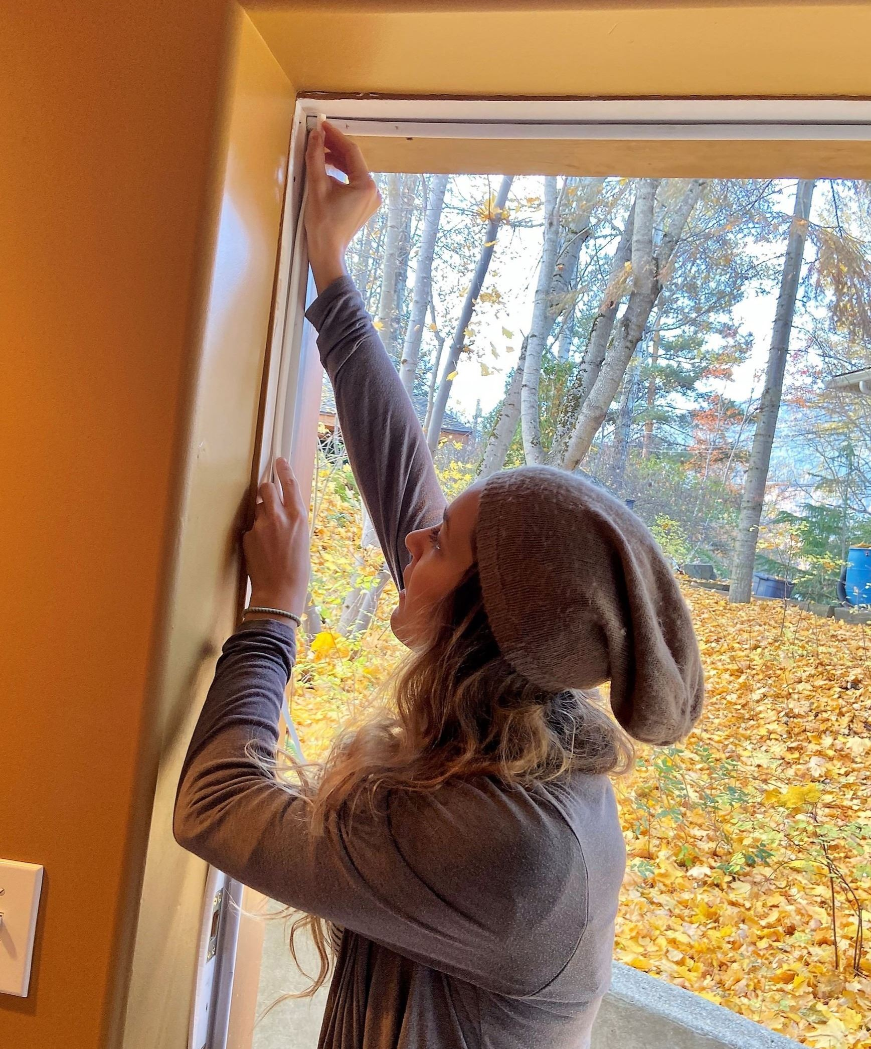 Seniors Program weatherstripping install