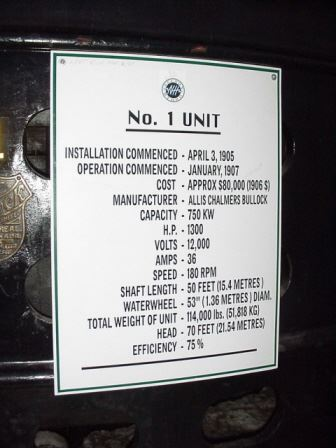 Number 1 Unit Nameplate